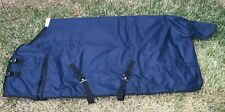 "1200D Turnout Waterproof Horse WINTER BLANKET HEAVY WEIGHT-NAVY BLUE-70"" TO 82"""