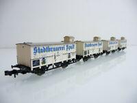 Minitrix N 1:160 13593 4-teiliger gedeckter Güterwagen Zug STADTBRAUEREI SPALT