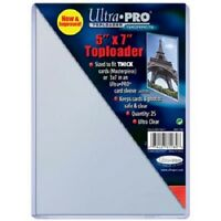 (10) ULTRA PRO 5X7 PHOTO POSTCARD PLASTIC RIGID TOPLOAD 5 X 7 TOPLOADERS