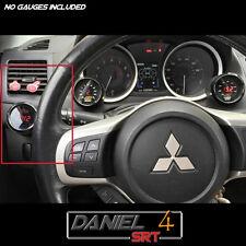 08 15 Mitsubishi Evo Lancer Single Gauge Pod 52mm  (OEM) Driver Side Dash Trim