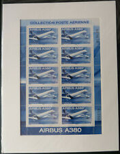 2006 Mini-feuille PA F69a Avion Airbus A380 sous blister