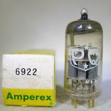NOS/NIB Amperex PQ Premium Quality 6922/E88CC 1962 USA Gold Pin Very Strong