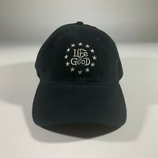 Life Is Good black Fitted Hat