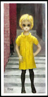 MARGARET Walter KEANE Postcard THE WAIFS 1963 UNPOSTED Girl Big Eyes Art Print