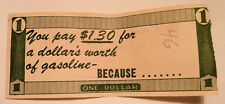 One Dollar AD Banknote 1950s Illinois PETROLEUM Industries Springfield $1.30 Tax