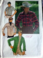 VTG 1970s MENS SHIRT Sewing Pattern X LARGE CHEST 48