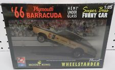 1966 PLYMOUTH HEMI UNDER GLASS BARRACUDA CUDA HURST FUNNY CAR KING AMT MODEL KIT