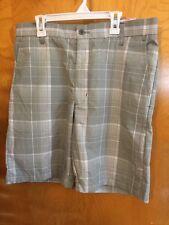 Men Ben Hogan Performance Golf Collection Shorts Light Gray,White  Size 32W NWT
