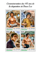 Niger Famous People 2018 MNH Bruce Lee Martial Arts Actors 4v M/S