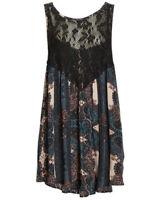 NWT Free People Count Me In Trapeze Mini Paisley Print Dress Size Small Boho