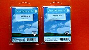 2 Scent Sationals Scented Wax Cubes Fresh Air 6 Count Package