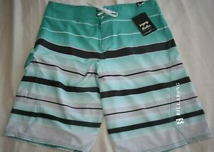 New BILLABONG PX3 Platinum Recycler Board Shorts 34 $55 stripe perform stretch