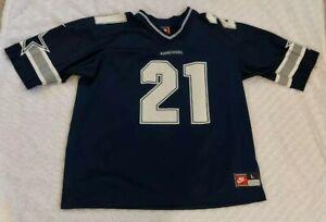 Nike Dallas Cowboys Jersey 44 L Vintage Sports Swoosh #21 Neon Deion Sanders