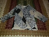 Size L Large Alfred Dunner Open Front Top, New Without Tags, Free Shipping