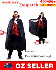 Mens Vampire Costume Halloween Party Outfit Fancy Dress UP Onesize Fit 165-180cm