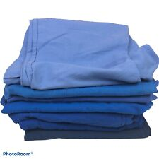 Women's Medium Scrub Pants Lot of 7 Medical Nursing Blue Shade Cotton Blend Flaw