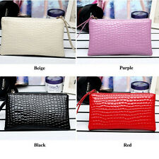 Fashion Handbags Casual Women Bags Crocodile PU Leather Clutch Handbag Bag
