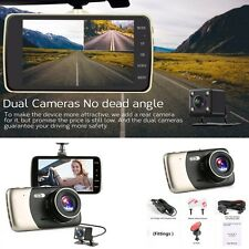 "New 1080P 4"" HD 170° Car Dash Camera Video DVR Cam Recorder + Rear view camera"