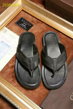 Nwt :// GUCCI Men's Leather Thong Sandal  Flip Flops Size 9.5