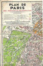 """1959 - """"NOUVEAU PLAN DE PARIS"""" Monumental avec Indication du Métropolitain"""