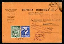 Ecuador - 1942 Commercial Postcard to Canada with US Censorship Handstamp