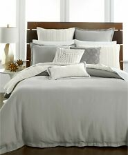 Hotel Collection Quilted Cotton Stripe Coverlet - KING - Linen Fog