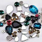 Glitter Crystal Sew Rhinestone With Claw Diy Stones Mix Shape Glass Rhinestones