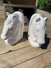 Vintage Horse Head Book End Retro Fine Ceramic Bookend