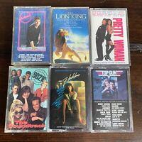 Lot 6 1980s 1990s Movie TV Soundtracks Cocktail Tip Gun 90210 Cassette Tapes D