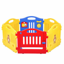 6 Panel Safety Play Center Yard Baby Playpen Kids Home Indoor Outdoor Pen Fence