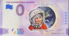 BILLET 0  EURO  YURI GAGARIN    COULEUR 2021  NUMERO DIVERS