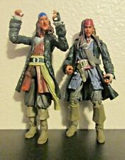 "Disney Pirates of the Caribbean Action Figure 2 figures 4"" tall 4.25"" Sparrow"