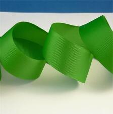 1 x METRE GREEN ~ SOLID COLOUR ~ GROSGRAIN RIBBON ~ 25mm ~ AUSSIE SELLER ~