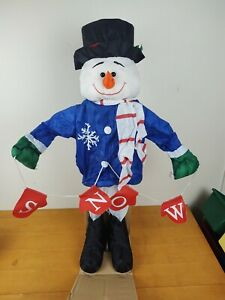 Gemmy Holiday Friends Christmas Snowman Animated Display RARE with Original Box