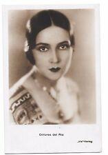 Dolores del Rio 1930s unused real photo Iris postcard #5185