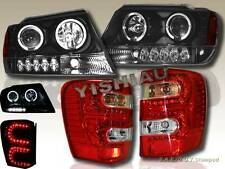 99-04 Jeep Grand Cherokee Projector Headlights Dual Halo LED + LED Tail Lights