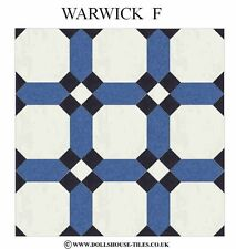 DOLLS HOUSE MINIATURES,DOLLS HOUSE TILES &.FLOORING WARWICK ( F ) FLOOR TILES
