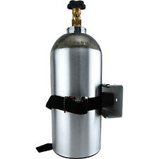 Single Gas Cylinder Safety Wall Bracket- Bar Kegerator Air Tank Co2 Holder Strap