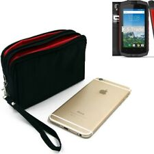 Travelbag Schutzhülle für Crosscall Trekker-M1 Core Smartphones Gürteltasche