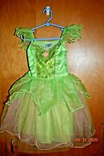 Girls Disney Store Tinkerbell Dress Halloween Costume Size 4               tag21