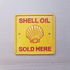 Cast Iron Shell Oil Square Wall Sign, authentic reproduction, brand new