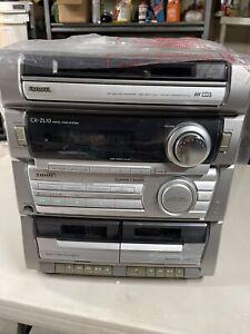 AIWA CX-ZL10  Stereo Audio System 3-CD Disc AM-FM Dual Cassette   No Speakers