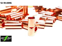 12-10 GAUGE 500 PK UNINSULATED  BARE COPPER BUTT CONNECTOR TERMINAL WIRE