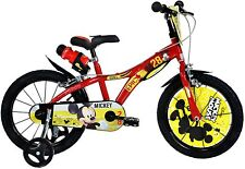 Dino Bikes - Mickey Mouse 16 Inch Red/Yellow Kids Unisex Bike Bicycle MAG Pneuma