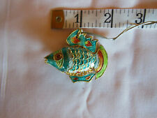"Euc Beautiful 2"" Articulated Cloisonne Tropical Fish Ornament / Pendant"