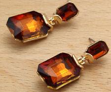 Long Ear Stud Hoop earrings 243 Woman's Multi Crystal Rhinestone Silver Plated
