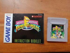 Mighty Morphin Power Rangers - Game Boy - Tested- Authentic