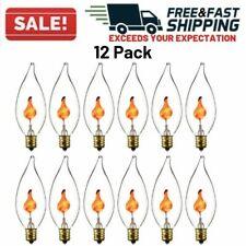 Flicker Flame Bulb Candelabra Base Flickering Light Incandescent Chandelier