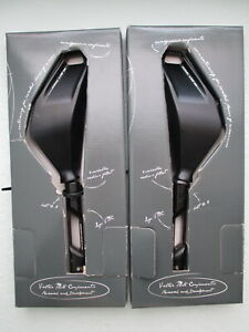 Valter Moto Naked Mirrors, Black, one pair (mounting adapters sold separately)