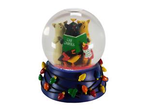 Dept 56 Cats Carols Musical Snow Globe We Wish You A Merry Christmas